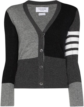Thom Browne Monochrome Block Cardigan