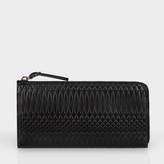 Paul Smith No.9 - Large Black Leather Zip-Around Purse