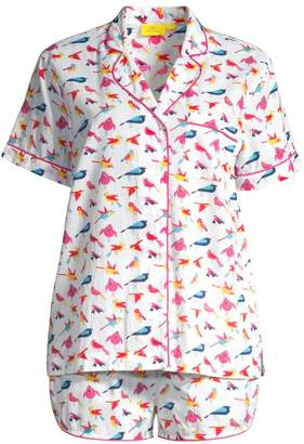Roller Rabbit Two-Piece Funny Birds Pajama Set