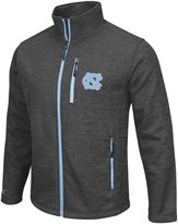 Colosseum North Carolina Tarheels Men's Backfield ll Full Zip Charcoal Jacket