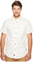 Globe Pizza Short Sleeve Shirt Men's Short Sleeve Button Up
