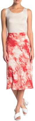 Elodie K Tie Dye Midi Skirt
