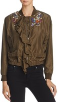 Molly Bracken Embellished Bomber Jacket