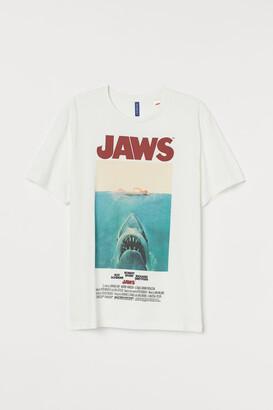 H&M Printed Graphic T-shirt - White