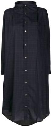 Zucca checked shirt midi dress