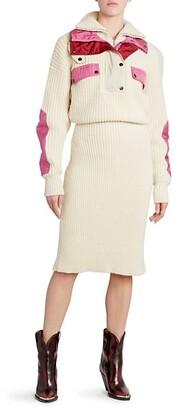 Isabel Marant Daphne Nylon & Wool Sweater Dress