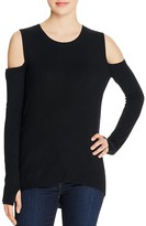 Pam & Gela Cold Shoulder Sweater