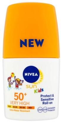 Nivea Sun Kids Suncream Roll-On Spf50+ Sensitive 50Ml