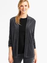 Talbots Luxe Velour Flyaway Cardigan-Striped