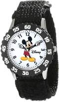 Disney Kids' W000227 Mickey Mouse Stainless Steel Time Teacher Watch with Moving Hands