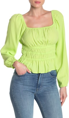 Elodie K Square Neck Ruched Top