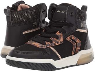 Geox Kids Jr Inek 1 (Little Kid) (Black Oxford) Girls Shoes