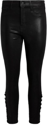 L'Agence Coated Piper Skinny Jeans