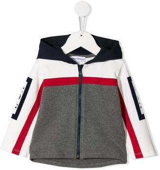Emporio Armani Kids Colour-Block Hooded Jacket