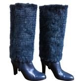 Salvatore Ferragamo Green Leather Boots