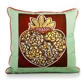 Karma Living Corazon De Rosas Pillow - 18 x 18