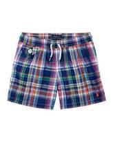 Ralph Lauren Traveler Cruise Plaid Board Shorts, Blue, Size 9-24 Months