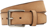Berge Men's Leather Square Buckle Belt