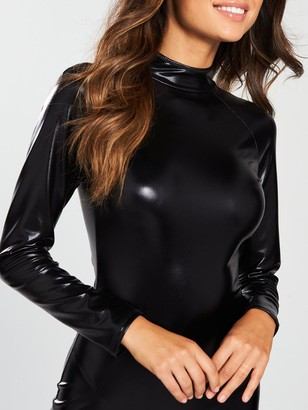 Ann Summers Dominatrix Long Sleeve Dress - Black
