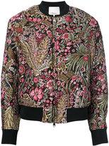 3.1 Phillip Lim floral cropped bomber jacket - women - Silk/Polyamide/Polyester/viscose - 2