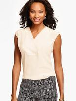 Talbots V-Neck Silk Blouse