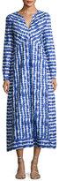 Tory Burch Long-Sleeve Tie-Dye Maxi Dress, Multi