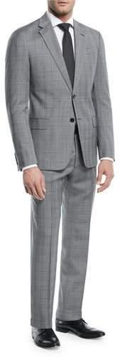Emporio Armani Broken Plaid Two-Piece Wool Suit