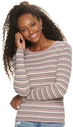 Juniors' Pink Republic Long Sleeve Sweater