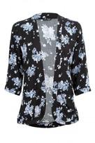Select Fashion Fashion Womens Blue Blue Floral Soft Jacket - size 6