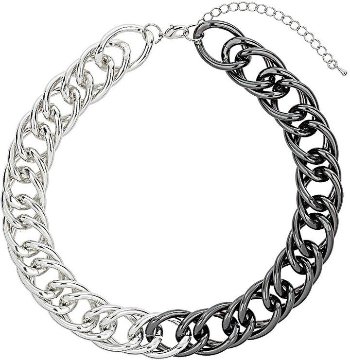 Topshop Half Coat Chain Collar