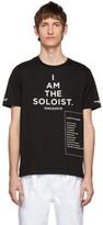 Takahiromiyashita Thesoloist. TAKAHIROMIYASHITA TheSoloist. Black High Gauge Jersey Bootleg Staff T-Shirt