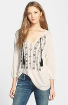 Lucky Brand Women's Embroidered Jersey Top