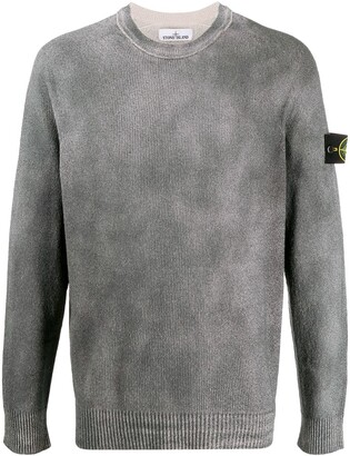 Stone Island Ribbed Knit Crew Neck Jumper