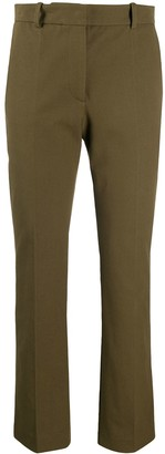 Joseph High-Rise Cropped Slim-Fit Trousers