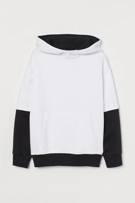 H&M Block-coloured hoodie