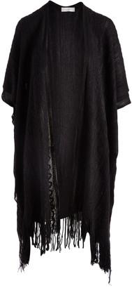 Jon & Anna jon & anna Women's Cardigans Black - Black Fringe Open Cardigan - Women & Plus