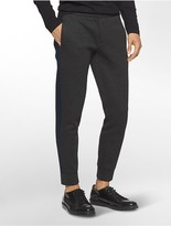 Calvin Klein Platinum Heathered Jersey Tuxedo Joggers