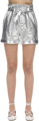 Simonetta Ravizza High Waist Leather Shorts