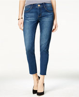 REWIND Juniors' Techno Tuck Skinny Ankle Jeans