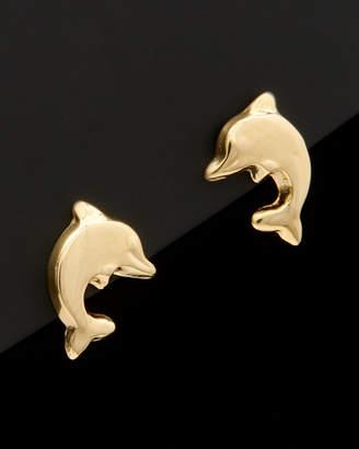 Italian Gold 14K Dolphin Studs
