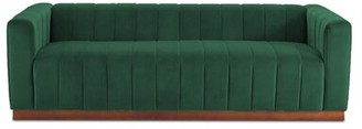 "Rosdorf Park Amburgey Velvet 78.75"" Tuxedo Arm Sofa Fabric: Emerald Green"