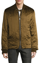 Diesel Black Gold Silk Jatrap Quilted Bomber Jacket