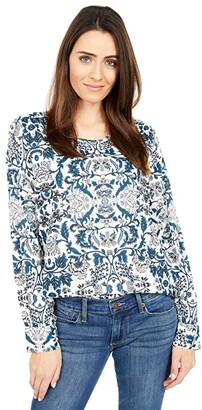 Lucky Brand Knit Top (White Multi) Women's Clothing