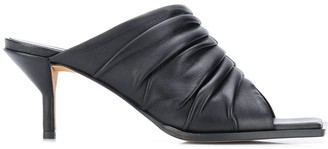 3.1 Phillip Lim Pleated Square Toe Mules