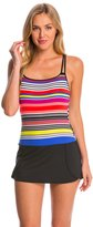 Jag Swimwear Reactive Stripe Skirted One Piece Swimsuit 8146626