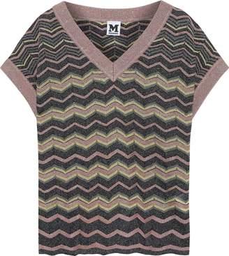M Missoni Metallic Crochet-knit Top