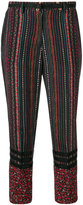 No.21 floral stripe cropped trousers