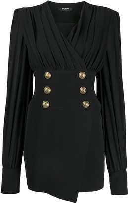Balmain Decorative Button Short Dress