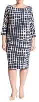 Marina Rinaldi, Plus Size Danese Printed Silk Crepe De Chine Shift Dress