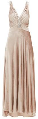 Paco Rabanne Crystal-strap Velvet Dress - Light Pink